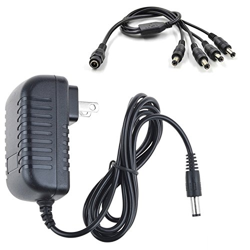 SLLEA AC/DC Adapter for Lorex LH030 ECO Blackbox 3 Series LH03162TC10PM Blackbox3 Surveillance Recorder DVR Cameras (4-in-1 Power Adapter for 4Pack Camera Use Only) Power Supply