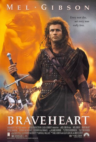 Braveheart (1995) Movie Poster 24x36 These are Certified Poster Office Prints with Sequential Holographic Numbering for Authenticity.
