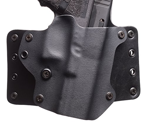 Black Point Tactical Leather Wing OWB Holster fits Sig Sauer P229, Right Hand, Black
