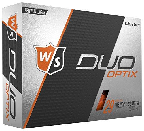 Wilson Staff DUO Optix Golf Ball, Soft, Orange