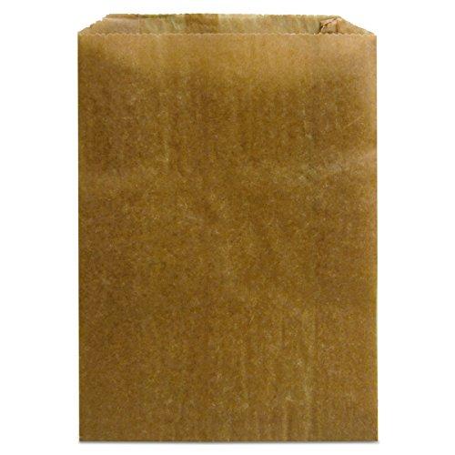 """Hospeco - GID-HOSKL-260 KL Waxed Kraft Feminine Hygiene Liner Bag with Gusset ,10.25"""" x 7.5"""" x 3.5"""",(Case of 500)"""