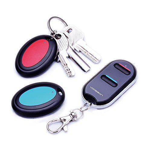 VODESON Wireless Key Finder RF Item Locator Item Tracker with Remote for Keys Keychain Wallet TV Remote Phone Luggage Pet Remote Beeper Tracking Device- No APP Required,Battery Included (2 Receivers)
