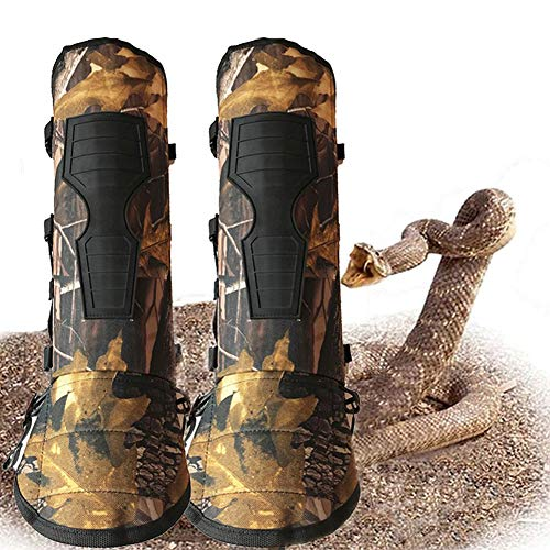 V-Cheetong Snake Gaiters Lower Leg Armor Anti-bite Snake Leggings Water Proof Comfortable Protection Gear for Hunting Hiking Outdoors Survival Kit (One Pair)