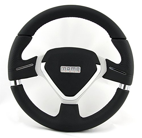 MOMO Millenium Evo 320 mm Leather Steering Wheel MEVO32BK1P