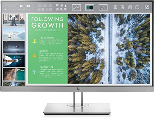 HP EliteDisplay E243 | 24' Monitor | HD IPS Screen | Silver | 1FH47A8