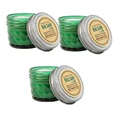 Paddywax Vintage Relish Jar Scented Candle Set of 3, Soy Candles (Balsam Fir)