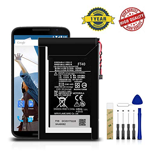 for AT&T Motorola Moto E 2nd Gen XT1527 Replacement Battery FT40 Free Adhesive Tool