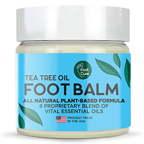Tea Tree Oil Balm, 100% All Natural Moisturizing Fast Acting Cream For Dry Feet & Cracked Heels, Extra Strength Callus Remover for Itchy Feet, Toenail Treatment, Calluses Remover & Callus Shaver
