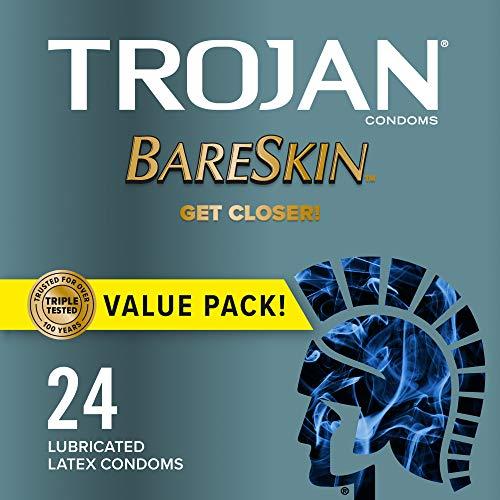 TROJAN Bareskin Thin Premium Lubricated Condoms - 24 Count