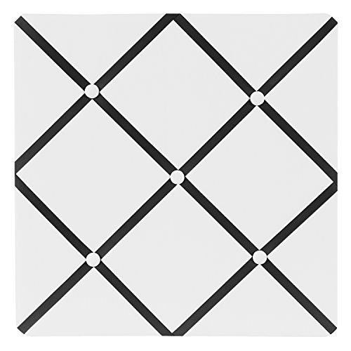 White and Black Hotel Fabric Memory/Memo Photo Bulletin Board by Sweet Jojo Designs