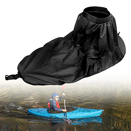 Yosoo Health Gear Kayak Spray Skirt, Adjustable Nylon Kayak Spray Skirt Waterproof Cover Kayak Accessory Water Sports Accessory (Black)