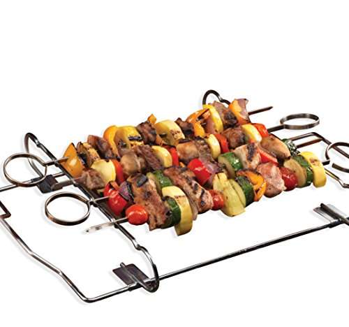 Kabob Set - 4 Skewers & Grill Rack