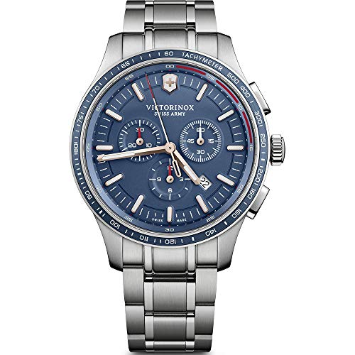 Victorinox Alliance Swiss-Quartz Watch with Stainless-Steel Strap, Silver, 20.4 (Model: 241817)