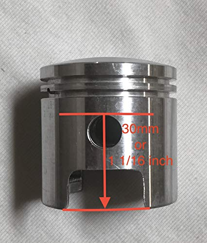 BGF 66/80cc 47mm Piston HIGH Hole 1 1/16' 30mm for Long Connecting Rod 2-Stroke Motor Bike Engine