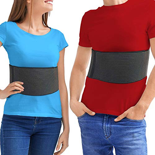 Chest Binder Rib Brace – Rib Belt to Reduce Rib Cage Pain. Chest Compression Support for Rib Muscle Injuries, Bruised Ribs or Rib Flare. Breathable Chest Wrap Breast Binder for Women or Men (Large/XL)