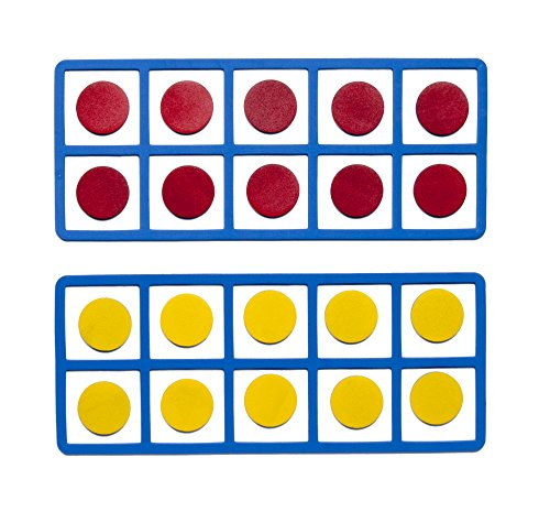 Learning Advantage Giant Magnetic Foam Ten Frames - In Home Learning Manipulative for Early Math - 2 Frames with 20 Disks - Teach Number Concepts, Addition and Subtraction