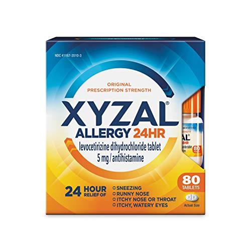 Xyzal Allergy Tablet, Original Version, 80 Count