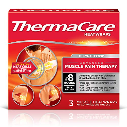 ThermaCare Advanced Back Pain (L-XL Size) and Neck Pain Combo Pack (8 Back Wraps, 1 Neck Wrap) Heatwraps, Up to 16 Hours of Pain Relief, Lower Back & Hip Use, Neck & Wrist & Shoulder Use