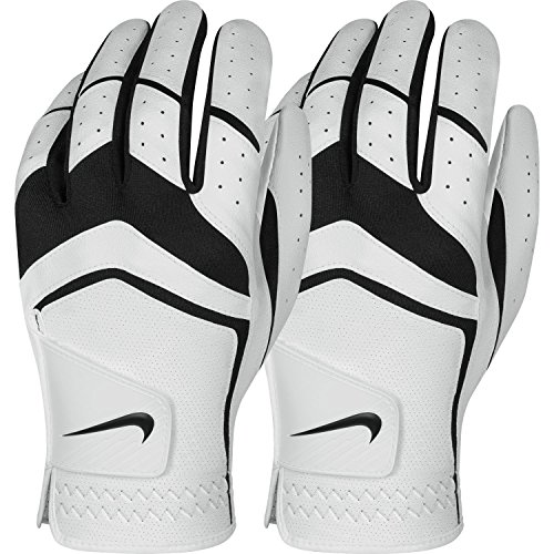 Nike Men's Dura Feel Golf Glove (2-Pack) (White), Medium - Cadet, Left Hand