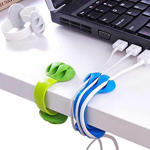 Jiulory Cable Holder - Cord Organizer - Cable Management Clips - Wire Holder System -3 Packs Multipurpose Cable Clips for Phone Chargers, USB Cables - Home, Office, Nightstand, Desk Organizer