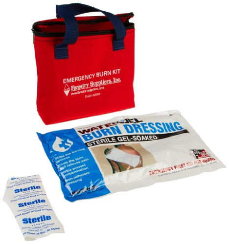 First Aid Only 3030 9 Piece Water-Jel Emergency Burn Kit in Fabric Pouch