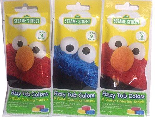 Sesame Street Fizzy Tub Color Tablets 9-tablets per Pack ( Pack of 3 )