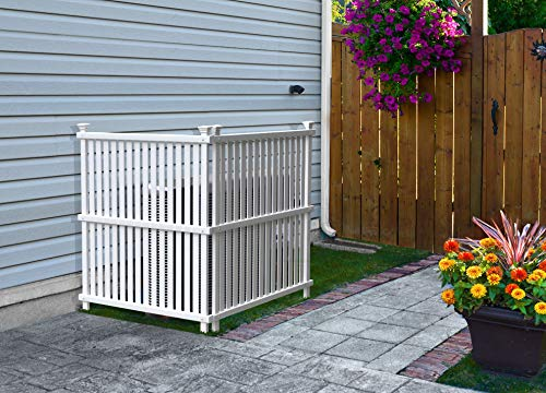 Zippity Outdoor Products ZP19008 Wilmington Vinyl Privacy Screen, 36' x 48' White , 2- Pack