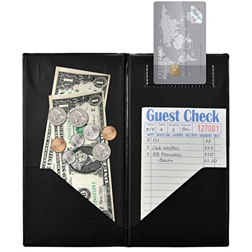 Stock Your Home Guest Check Presenter (20 Count) - Card Holder for Restaurants - Server Books for Waitresses, Waiters and Servers - Waitress Book - Restaurant Check Holder