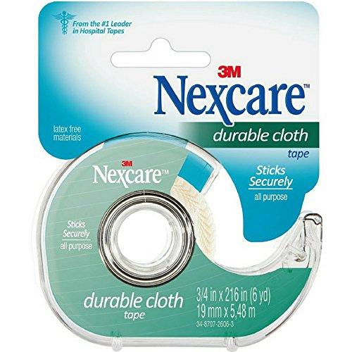 Nexcare Durable Cloth First Aid Tape With Dispenser, 3/4 in x 6 yds