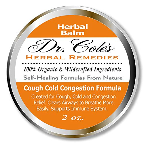 Dr. Cole's Organic Cough Cold Congestion Relief Balm – Extra Strength Chest Rub Organic, Self-Healing Formula to Provide Cough, Cold and Congestion Relief, Clears Airways to Help Make Breathing Easier