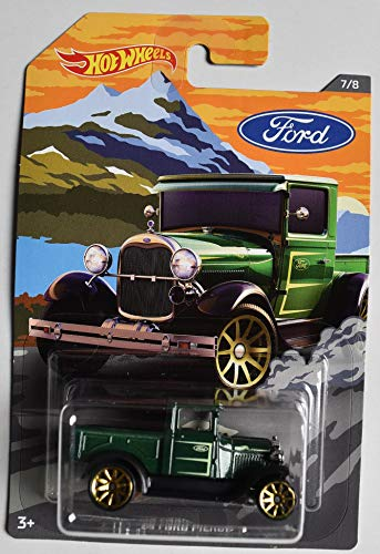 DieCast HOT Wheels Ford Series, Dark Green '29 Ford Pickup 7/8