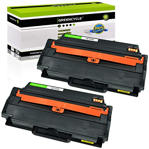 GREENCYCLE Compatible Toner Cartridge Replacement for Samsung 103L MLT103 MLT-D103L MLTD103L Use with ML-2955ND ML-2955DW ML-2950ND SCX-4729FW SCX-4729FD Printer (Black, 2-Pack)