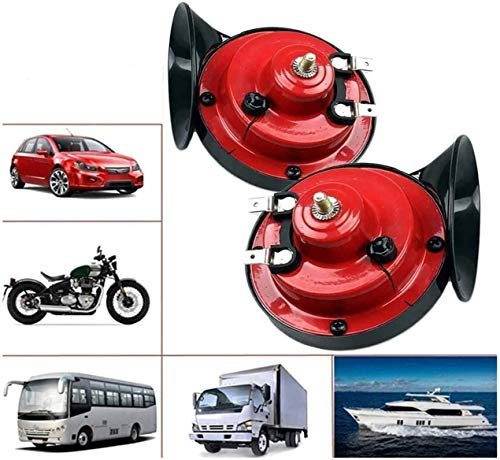 300DB Truck Horn 【2 Pack】 Tweeter and Marine Horn, 12V Dual Waterproof Motorcycle Snail Horn, Super Loud Truck Horn, Stable Frequency Horn, Police Siren and Powerful Sound