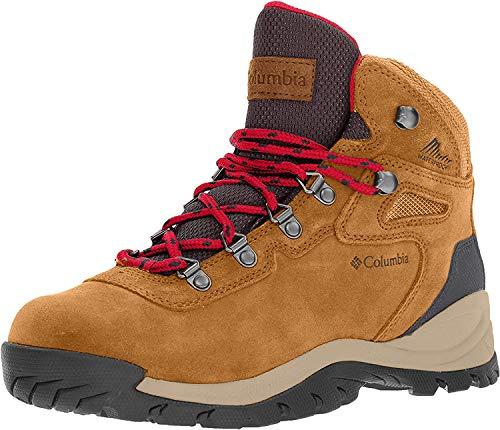 Columbia womens Newton Ridge Plus Waterproof Amped Hiking Boot, Elk/Mountain Red, 7 US