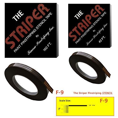 The Striper Paint Pinstriping Stencil Tape - Pinstripe Your Car/Truck   Striper: F-9   Results: 1/8' Stripe (42 Foot roll)