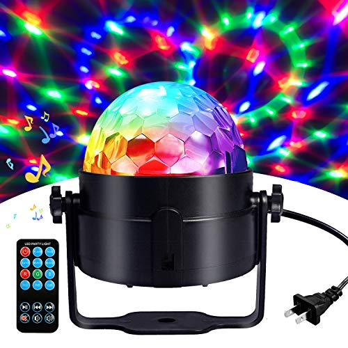 Disco Ball Disco Lights-COIDEA Party Lights Sound Activated Storbe Light With Remote Control DJ Lighting,Led 3W RGB Light Bal, Dance lightshow for Home Room Parties Kids Birthday Wedding Show Club Pub