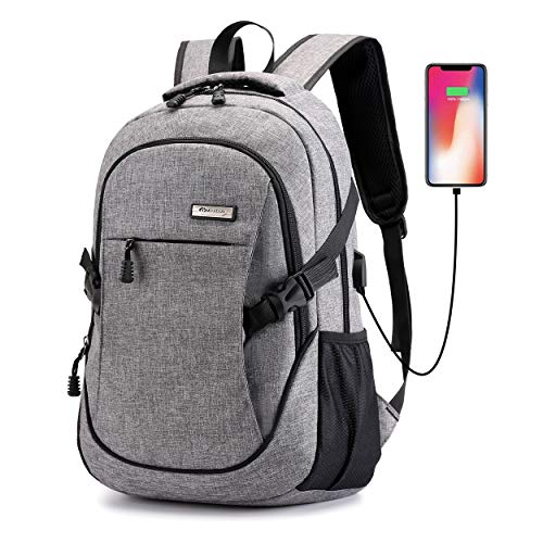 Ranvoo Laptop Backpack, Anti Theft Slim Durable Laptops Backpack with USB Charging Port,Water Resistant College School Computer Bag for Women & Men Fits 15.6 Inch Laptop and Notebook