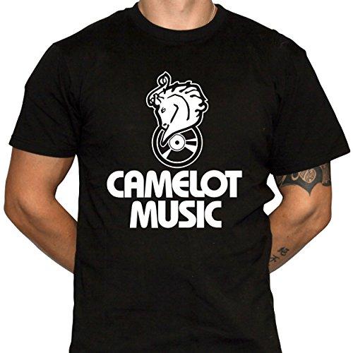 Camelot Music T-Shirt - Defunct Music Store - 100% Cotton Gildan Brand Black Shirt (X-Large)