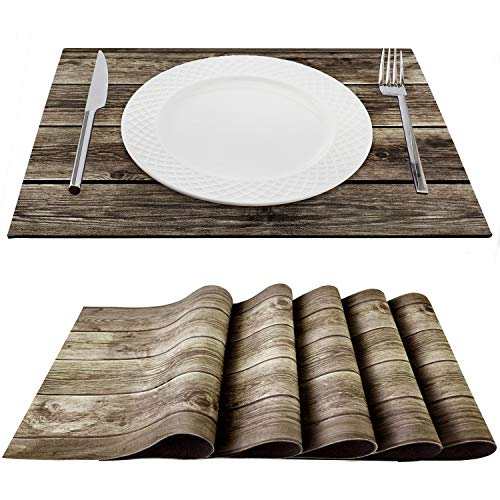 Trivetrunner:Decorative Modular Trivet Runner for Table 6 pcs Placemats Extendable Hot Pad, for Heat-Resistant Surface,for Hot Plates, Pots, Dishes, Cookware for Kitchen (Wooden Rustic)