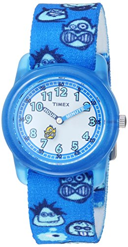 Timex Boys TW7C25700 Time Machines Blue/Monsters Elastic Fabric Strap Watch
