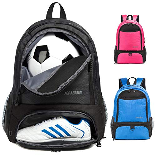 Tindecokin Soccer Bag Youth Soccer Bags Basketball Bag Soccer & Basketball & Football & Volleyball Backpack Training Package