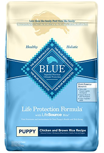Blue Buffalo Life Protection Formula Puppy Dog Food – Natural Dry Dog Food for Puppies – Chicken and Brown Rice – 30 lb. Bag (596003)