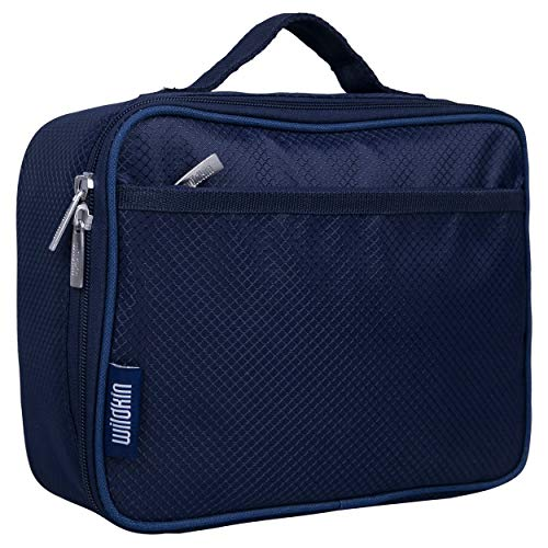 Wildkin Kids Insulated Lunch Box Bag for Men and Women, Ideal Size for Packing Hot or Cold Snacks for Work & Travel, Measures 9.75 x 7 x 3.25 Inches, Mom's Choice Award Winner, BPA-free(Rip-Stop Blue)