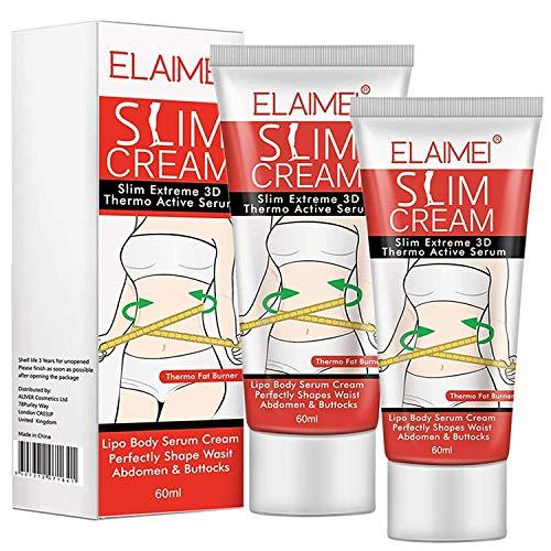 2 Pack Hot Cream,Slimming Cream Fat Burner for Tummy, Abdomen, and Waist,Sweet Sweat Cream That Burns Fat & Moisturizing Tightening and Slimming, Lose Weight Fast for Women/Men,Goodbye Cellulite-60ml
