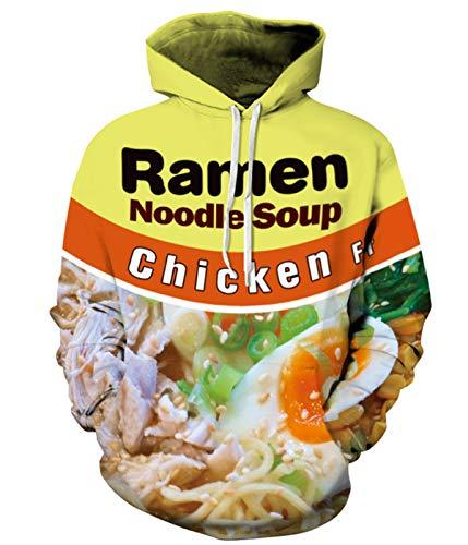 PIZOFF Unisex Ramen Noodle Hoodie Pockets 3D Pullover Hoodie Drawstring Hooded Sweatshirts Hoodies AM006-01-M