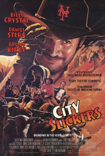 City Slickers Movie Poster (27 x 40 Inches - 69cm x 102cm) (1991) Style B -(Billy Crystal)(Daniel Stern)(Bruno Kirby)(Patricia Wettig)(Helen Slater)(Jack Palance)
