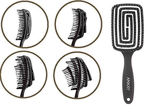 Amaxy Hair Brush - Curved and Vented Detangling Hair Brush for Women Long, Thick, Thin, Curly & Tangled Hair Vent Brush
