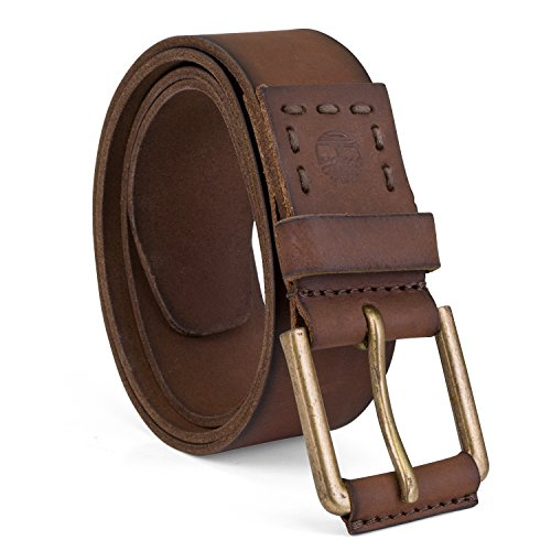 Timberland Men's 40Mm Pull Up Leather Belt, Brown, 36