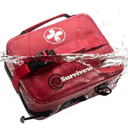 Surviveware Waterproof First Aid Kit for Kayak, Boating, Backpacking, Snow and Water Sports