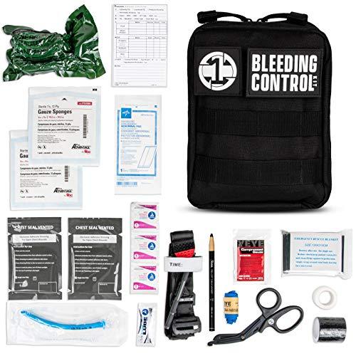 Emergency Trauma kit with Aluminum Tourniquet, Israeli Bandage, Emergency Trauma IFAK for First Aid Response, Severe Bleeding Control